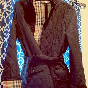 Authentic Burberry London quilted belted coat